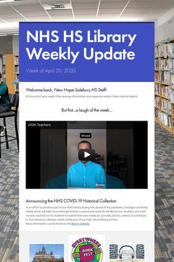 NHS HS Library Weekly Update