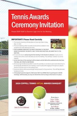 Tennis Awards Ceremony Invitation