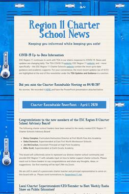 Region 11 Charter School News
