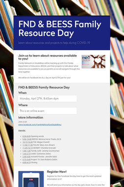 FND & BEESS Family Resource Day