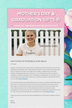 Mother's Day & Graduation Gifts 🎁