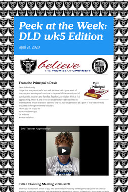 Peek at the Week: DLD wk5 Edition