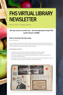 FHS VIRTUAL LIBRARY NEWSLETTER