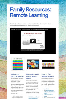 Family Resources:  Remote Learning