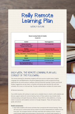 Reilly Remote Learning Plan