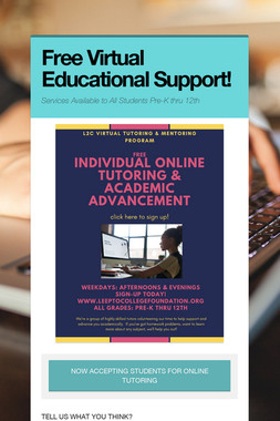 Free Virtual Educational Support!