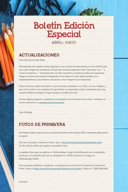Boletín  Edición Especial