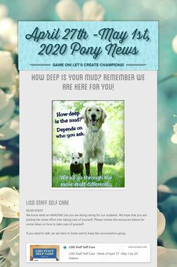 April 27th -May 1st, 2020 Pony News