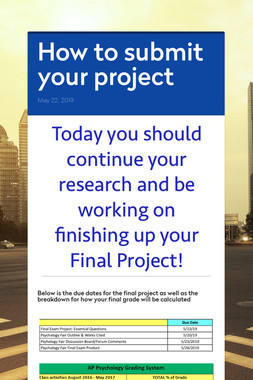 How to submit your project