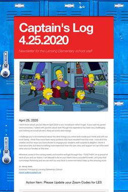 Captain's Log 4.25.2020