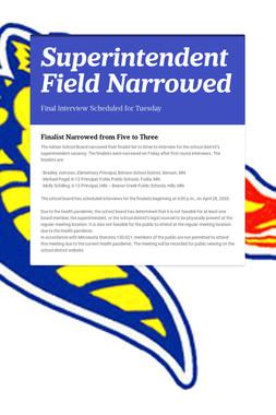 Superintendent Field Narrowed