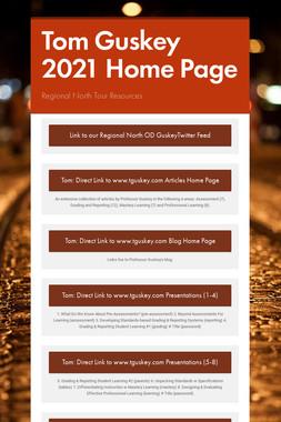 Tom Guskey 2021 Draft Home Page