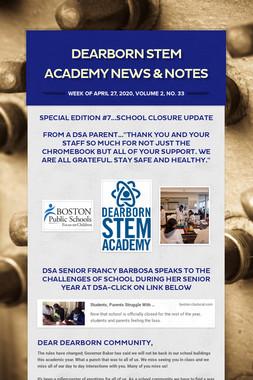 DEARBORN STEM ACADEMY NEWS  & NOTES