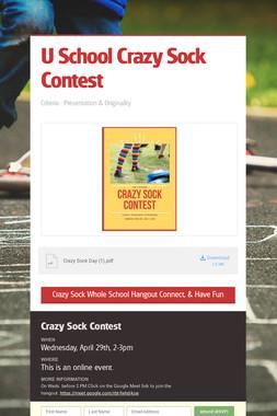 U School  Crazy Sock  Contest