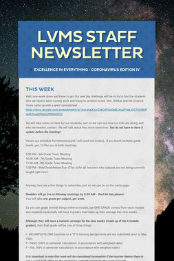 LVMS Staff Newsletter