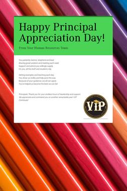 Happy Principal Appreciation Day!