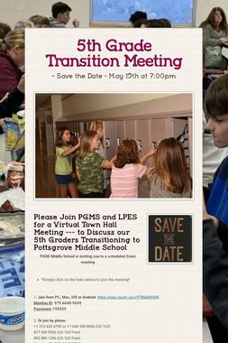 5th Grade Transition Meeting