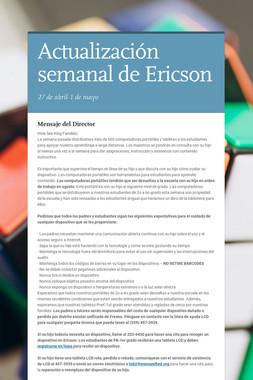 Actualización semanal de Ericson
