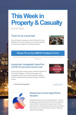 This Week in Property & Casualty