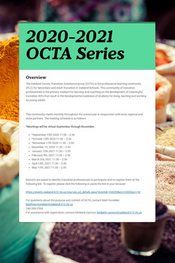 2020-2021 OCTA Series