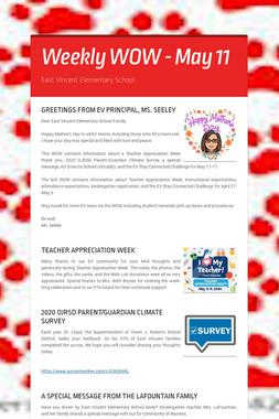 Weekly WOW - May 11