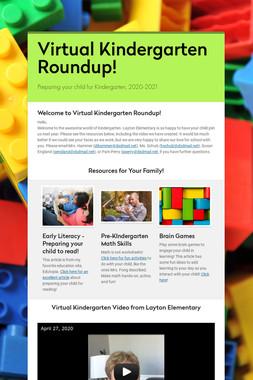 Virtual Kindergarten Roundup!