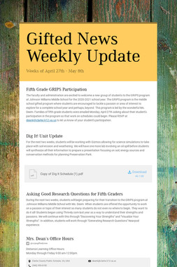 Gifted News Weekly Update