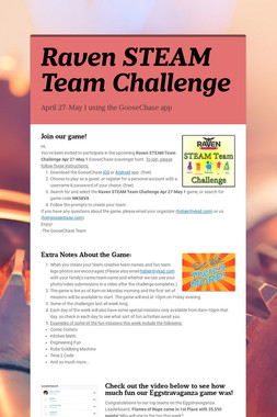 Raven STEAM Team Challenge