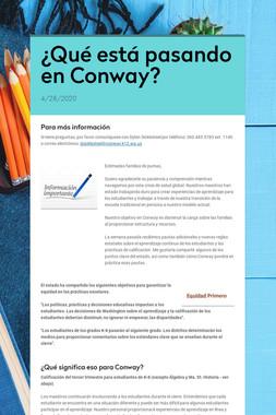 ¿Qué está pasando en Conway?