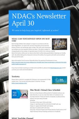 NDAC's Newsletter April 30