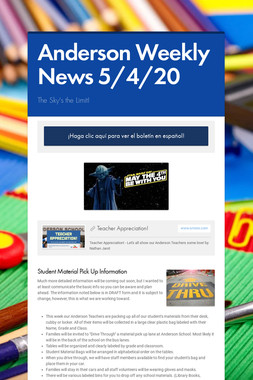 Anderson Weekly News 5/4/20