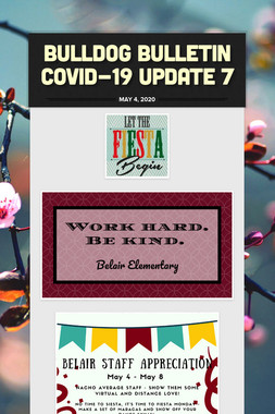 Bulldog Bulletin COVID-19 Update 7