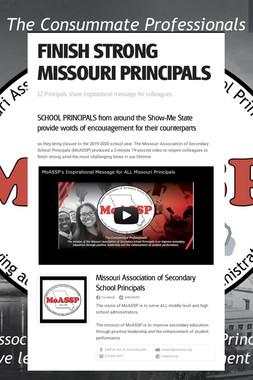 FINISH STRONG MISSOURI PRINCIPALS