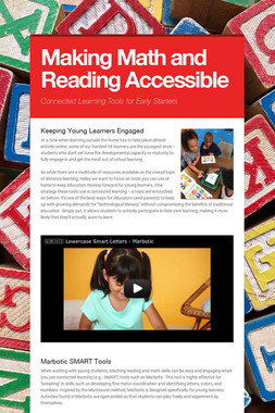 Making Math and Reading Accessible