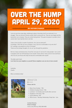 Over the Hump  April 29, 2020