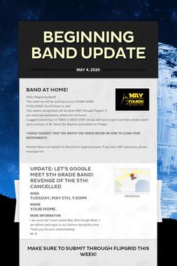 Beginning Band UPDATE