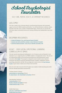 School Psychologist Newsletter