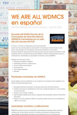 WE ARE ALL WDMCS en español