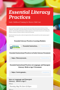 Essential Literacy Practices