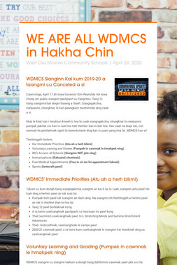 WE ARE ALL WDMCS in Hakha Chin