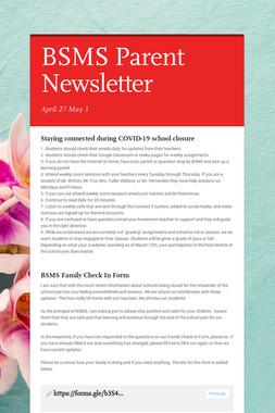 BSMS Parent Newsletter