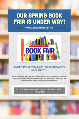 Our Spring book fair is under way!