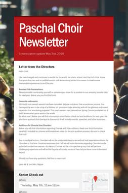 Paschal Choir Newsletter