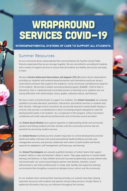 Wraparound Services    Covid-19