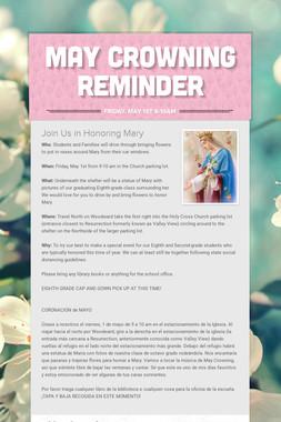 May Crowning Reminder