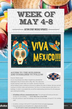 Week of May 4-8