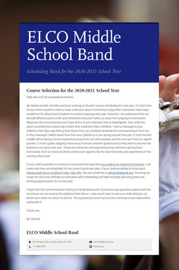 ELCO Middle School Band