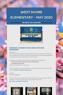 West Shore Elementary - May 2020