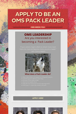 Apply to be an OMS Pack Leader