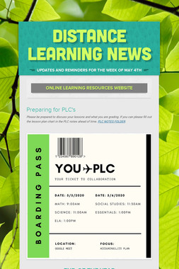 Distance Learning News
